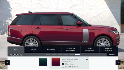 Xe Range Rover Có Bao Nhiêu Màu Ngoại Thất