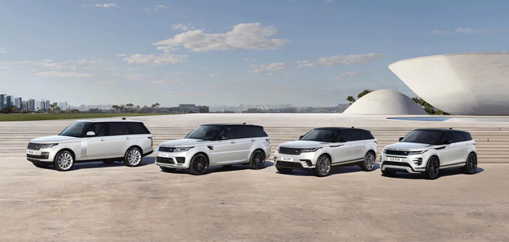 4 mẫu xe range rover và 2 mẫu landrover discovery, 1 mẫu defender,