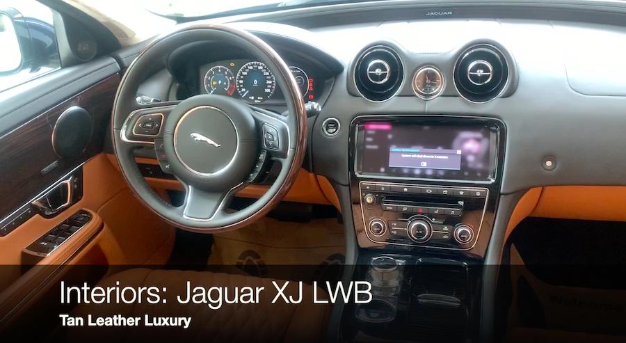 Nội Thất Xe Jaguar XJL Màu Nâu Da Bò Có  Option Gì