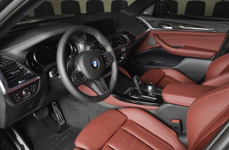 Xe BMW X4 Phiên Bản 5 Chỗ Màu Nâu 2019 Giá Bán Bao Nhiêu, Mẫu BMW X4 Coupe Khi Nào Về Việt Nam, Xe Giao Vào Năm 2020 -Nội thất da bò đỏ