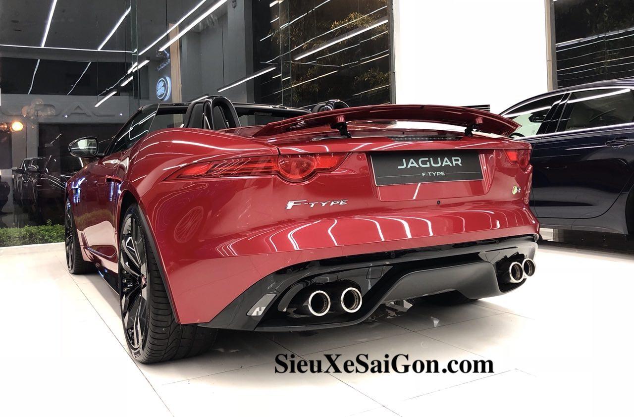 Jaguar F-Type 2 Cửa Phiên Bản Mui Trần Xếp lại được, Mẫu đắt nhất màu đỏ, Jaguar F-Type 2 Cửa Phiên Bản Mui Trần Bao Nhiêu Tiền Tại Việt Nam