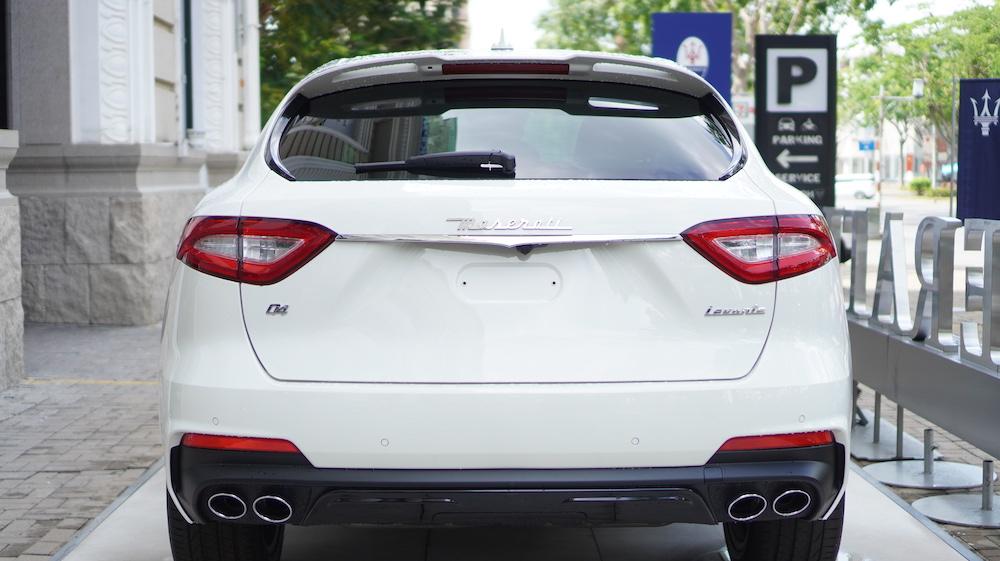 Phần đuôi xe của Maserati Levante