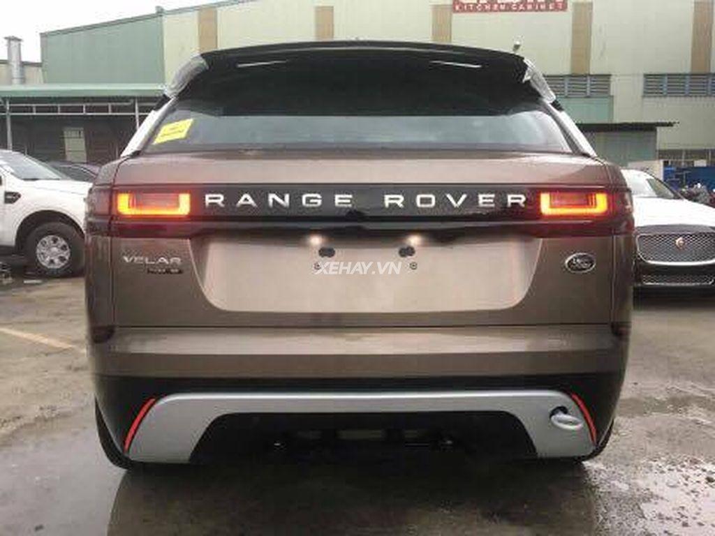 hình ảnh xe range rover velar đầu tiên về việt nam màu nâu