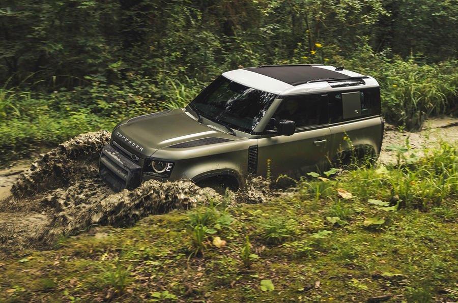 Land Rover Defender Phiên Bản Hoàn Toàn Mới 2020 Ra Mắt màu xanh